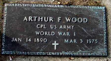 WOOD, ARTHUR F - Calhoun County, Michigan   ARTHUR F WOOD - Michigan Gravestone Photos