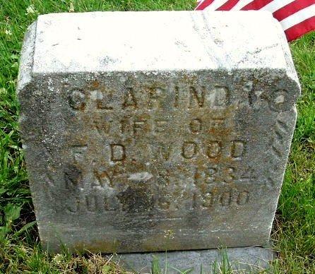 WOOD, CLARINDA - Calhoun County, Michigan | CLARINDA WOOD - Michigan Gravestone Photos