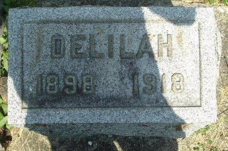 WOOD, DELILAH - Calhoun County, Michigan | DELILAH WOOD - Michigan Gravestone Photos