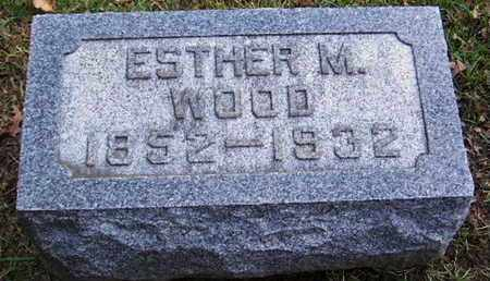 WOOD, ESTHER M - Calhoun County, Michigan | ESTHER M WOOD - Michigan Gravestone Photos