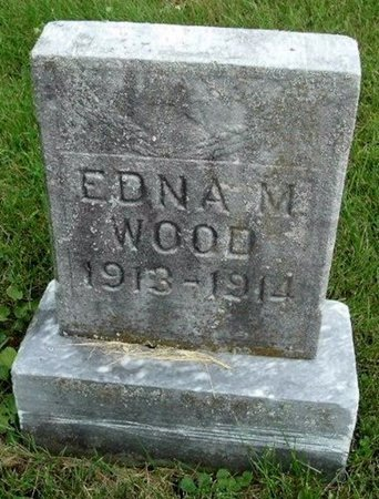 WOOD, EDNA M - Calhoun County, Michigan | EDNA M WOOD - Michigan Gravestone Photos