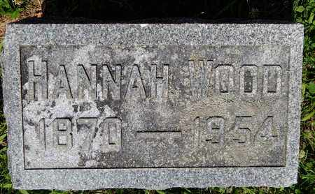 WOOD, HANNAH - Calhoun County, Michigan | HANNAH WOOD - Michigan Gravestone Photos