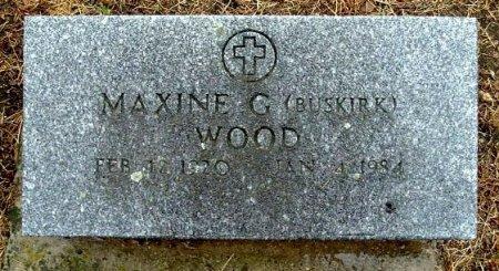 WOOD, MAXINE - Calhoun County, Michigan | MAXINE WOOD - Michigan Gravestone Photos