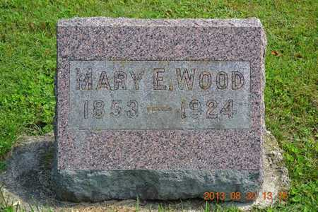 WOOD, MARY E. - Calhoun County, Michigan | MARY E. WOOD - Michigan Gravestone Photos