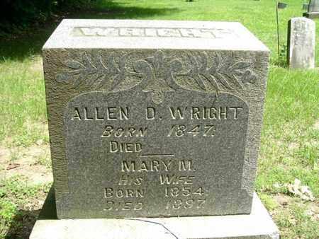 WRIGHT, ALLEN - Calhoun County, Michigan | ALLEN WRIGHT - Michigan Gravestone Photos