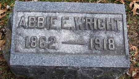 WRIGHT, ABBIE E - Calhoun County, Michigan | ABBIE E WRIGHT - Michigan Gravestone Photos