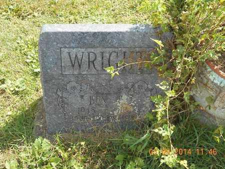 WRIGHT, BEN E. - Calhoun County, Michigan   BEN E. WRIGHT - Michigan Gravestone Photos