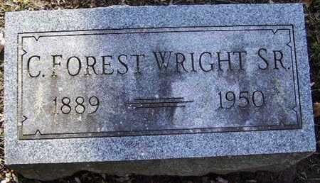 WRIGHT, C. FOREST SR - Calhoun County, Michigan   C. FOREST SR WRIGHT - Michigan Gravestone Photos