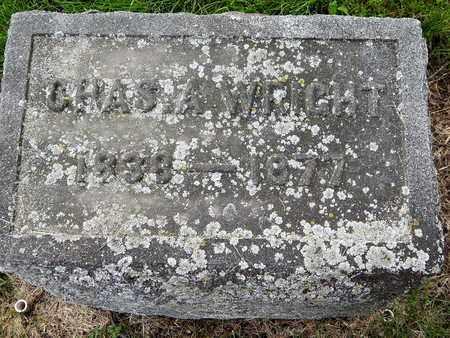 WRIGHT, CHARLES A - Calhoun County, Michigan | CHARLES A WRIGHT - Michigan Gravestone Photos