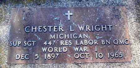 WRIGHT, CHESTER L - Calhoun County, Michigan   CHESTER L WRIGHT - Michigan Gravestone Photos