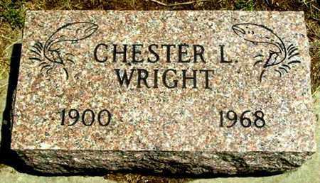 WRIGHT, CHESTER L - Calhoun County, Michigan | CHESTER L WRIGHT - Michigan Gravestone Photos