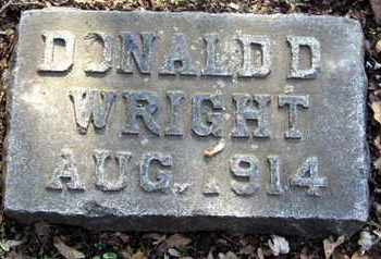 WRIGHT, DONALD D - Calhoun County, Michigan | DONALD D WRIGHT - Michigan Gravestone Photos