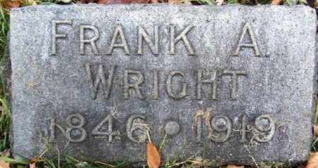 WRIGHT, FRANK A - Calhoun County, Michigan | FRANK A WRIGHT - Michigan Gravestone Photos