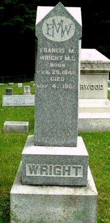 WRIGHT, FRANCIS M - Calhoun County, Michigan | FRANCIS M WRIGHT - Michigan Gravestone Photos