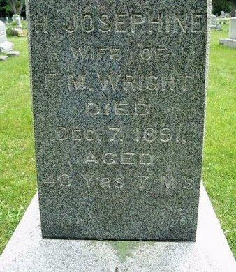 WRIGHT, HARRIET JOSEPHINE - Calhoun County, Michigan   HARRIET JOSEPHINE WRIGHT - Michigan Gravestone Photos