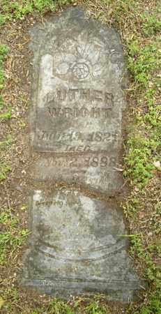 WRIGHT, LUTHER - Calhoun County, Michigan   LUTHER WRIGHT - Michigan Gravestone Photos