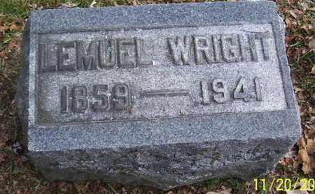 WRIGHT, LEMUEL - Calhoun County, Michigan | LEMUEL WRIGHT - Michigan Gravestone Photos