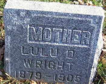 WRIGHT, LULU D - Calhoun County, Michigan | LULU D WRIGHT - Michigan Gravestone Photos