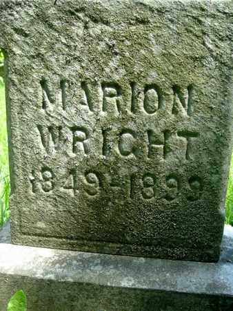WRIGHT, MARION - Calhoun County, Michigan   MARION WRIGHT - Michigan Gravestone Photos