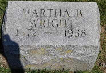 WRIGHT, MARTHA B - Calhoun County, Michigan | MARTHA B WRIGHT - Michigan Gravestone Photos