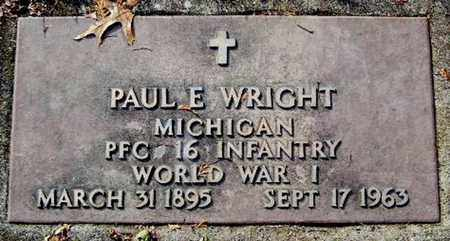 WRIGHT, PAUL E - Calhoun County, Michigan | PAUL E WRIGHT - Michigan Gravestone Photos