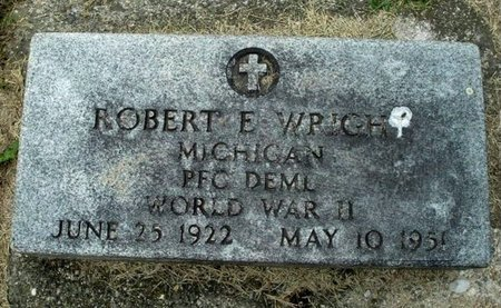 WRIGHT, ROBERT E. - Calhoun County, Michigan | ROBERT E. WRIGHT - Michigan Gravestone Photos