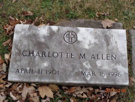 ALLEN, CHARLOTTE M. - Clinton County, Michigan | CHARLOTTE M. ALLEN - Michigan Gravestone Photos