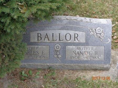BALLOR, CHARLES E. - Clinton County, Michigan | CHARLES E. BALLOR - Michigan Gravestone Photos