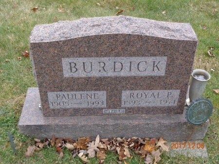 BURDICK, PAULENE - Clinton County, Michigan | PAULENE BURDICK - Michigan Gravestone Photos