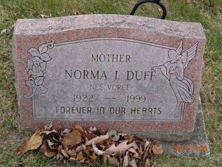 DUFF, NORMA I. - Clinton County, Michigan   NORMA I. DUFF - Michigan Gravestone Photos