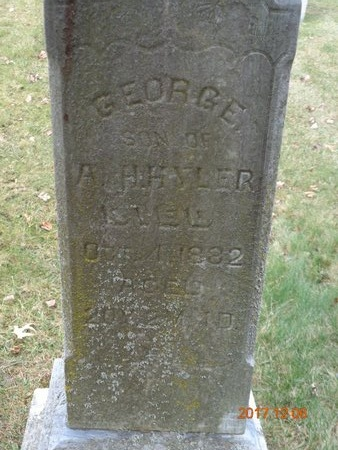 HYLER, GEORGE - Clinton County, Michigan | GEORGE HYLER - Michigan Gravestone Photos