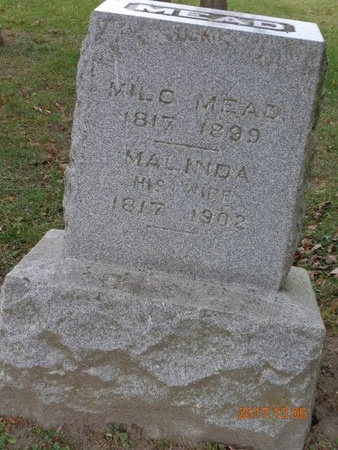 MEAD, MILO - Clinton County, Michigan   MILO MEAD - Michigan Gravestone Photos