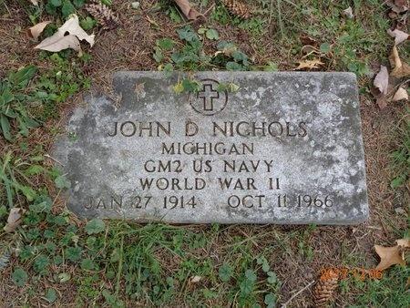 NICHOLS, JOHN D. - Clinton County, Michigan   JOHN D. NICHOLS - Michigan Gravestone Photos