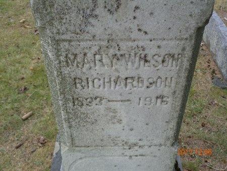 WILSON RICHARDSON, MARY - Clinton County, Michigan | MARY WILSON RICHARDSON - Michigan Gravestone Photos