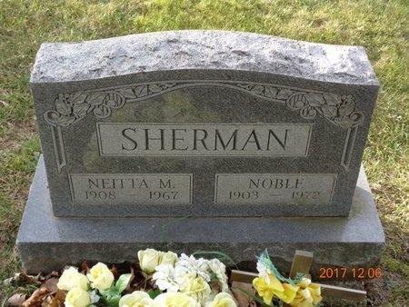 SHERMAN, NOBLE - Clinton County, Michigan   NOBLE SHERMAN - Michigan Gravestone Photos