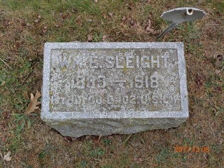 SLEIGHT, WILLIAM E. - Clinton County, Michigan | WILLIAM E. SLEIGHT - Michigan Gravestone Photos