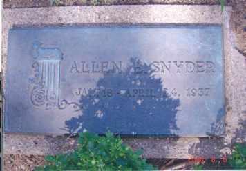 SNYDER, ALLEN - Clinton County, Michigan | ALLEN SNYDER - Michigan Gravestone Photos