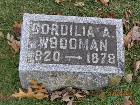 WOODMAN, CORDILIA A. - Clinton County, Michigan | CORDILIA A. WOODMAN - Michigan Gravestone Photos