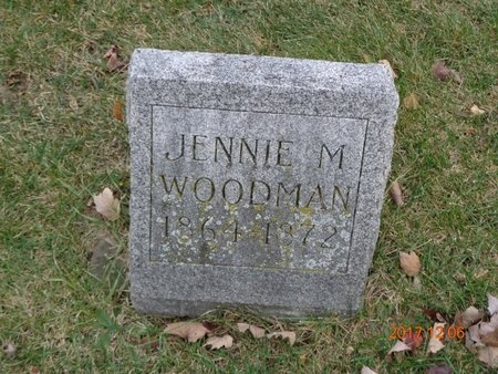 WOODMAN, JENNIE M. - Clinton County, Michigan   JENNIE M. WOODMAN - Michigan Gravestone Photos