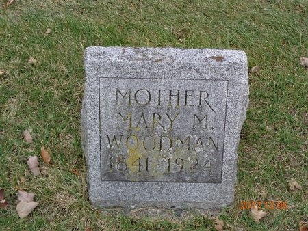 WOODMAN, MARY M. - Clinton County, Michigan | MARY M. WOODMAN - Michigan Gravestone Photos