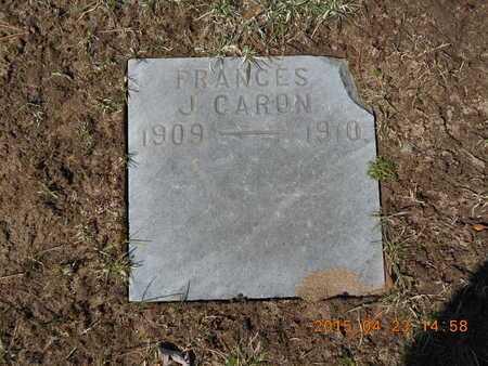 CARON, FRANCES J. - Delta County, Michigan   FRANCES J. CARON - Michigan Gravestone Photos