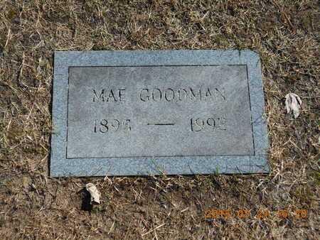GOODMAN, MAE - Delta County, Michigan | MAE GOODMAN - Michigan Gravestone Photos
