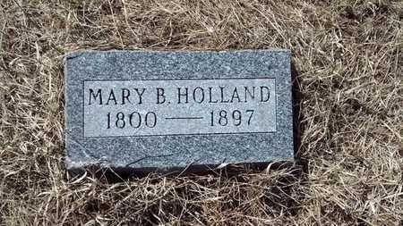 HOLLAND, MARY B. - Delta County, Michigan | MARY B. HOLLAND - Michigan Gravestone Photos
