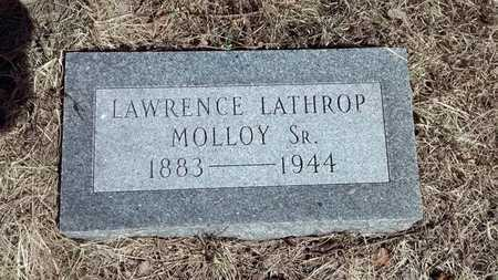 MOLLOY, SR., LAWRENCE LATHROP - Delta County, Michigan | LAWRENCE LATHROP MOLLOY, SR. - Michigan Gravestone Photos