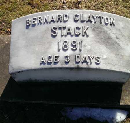 STACK, BERNARD CLAYTON - Delta County, Michigan   BERNARD CLAYTON STACK - Michigan Gravestone Photos