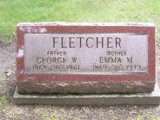 STARMER FLETCHER, EMMA M. - Emmet County, Michigan   EMMA M. STARMER FLETCHER - Michigan Gravestone Photos