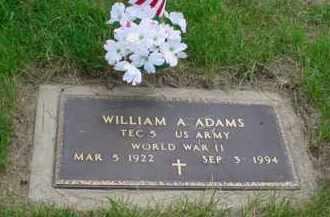 ADAMS, WILLIAM A - Genesee County, Michigan | WILLIAM A ADAMS - Michigan Gravestone Photos