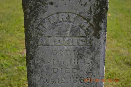 ALDRICH, HENRY H. - Hillsdale County, Michigan | HENRY H. ALDRICH - Michigan Gravestone Photos