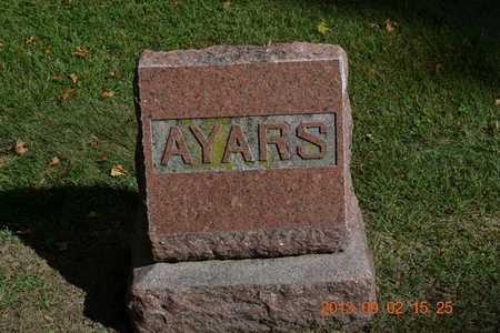 AYARS, LOT MARKER - Hillsdale County, Michigan | LOT MARKER AYARS - Michigan Gravestone Photos