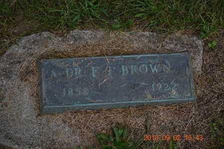 BROWN, DR. F.J. - Hillsdale County, Michigan | DR. F.J. BROWN - Michigan Gravestone Photos